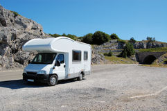 Campmobile in Nature Royalty Free Stock Photography