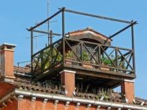 屋顶庭院在威尼斯 免版税图库摄影