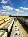 Campo abandonado de trenes Imágenes de archivo libres de regalías