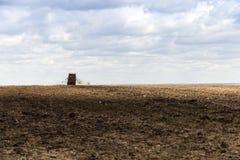 Campo agrícola del fertilizante Fotografía de archivo libre de regalías