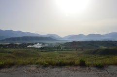 Campo albanés - salida del sol Imagen de archivo libre de regalías