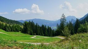 Campo alpino bávaro Panorams fotografia de stock