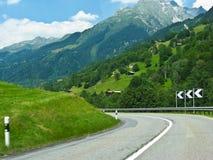 Campo alpino em Switzerland, Europa Fotografia de Stock