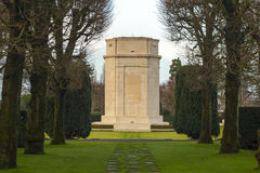 Campo americano Bélgica Waregem de Flanders do cemitério da Primeira Guerra Mundial fotografia de stock