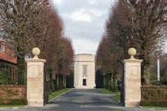Campo americano Bélgica Waregem WW1 de Flandes del cementerio Foto de archivo