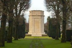 Campo americano Belgio Waregem delle Fiandre del cimitero della prima guerra mondiale Fotografia Stock