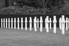 Campo americano Belgio Waregem delle Fiandre del cimitero della prima guerra mondiale Immagini Stock
