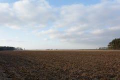 Campo arado Fotografia de Stock