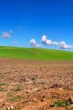 Campo arado en campo Imagen de archivo