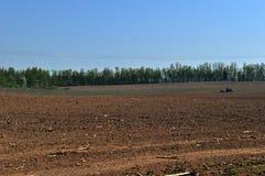 Campo arado ruso Fotografía de archivo libre de regalías