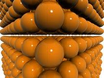 Campo arancione dello shpere 3d Immagini Stock