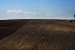 Campo arato - agricoltura in Polonia Immagini Stock Libere da Diritti