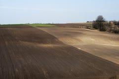 Campo arato - agricoltura in Polonia Fotografia Stock Libera da Diritti