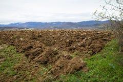 Campo arato di agricoltura Fotografia Stock Libera da Diritti