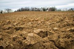 Campo arato di agricoltura Fotografia Stock