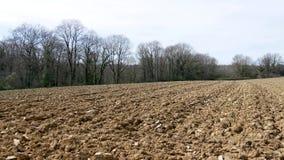 Campo arato nella campagna video d archivio