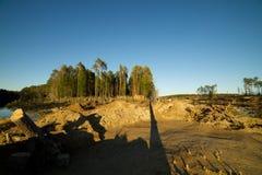 Campo archeologico nella regione di Altai di scavi fabbricati Fotografia Stock Libera da Diritti