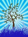 Campo asoleado azul Ilustración del Vector