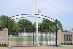 Campo atlético de Covington, Covington, TN fotos de stock