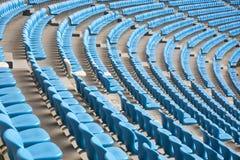 Campo atletico del campo di football americano il sedile del pubblico Fotografia Stock Libera da Diritti