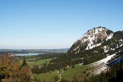 Campo bávaro -- cerca de Fussen, Alemania Foto de archivo libre de regalías