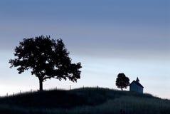 Campo bávaro en la oscuridad Imagen de archivo libre de regalías