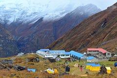 Campo bajo de Annapurna, Nepal Imagen de archivo