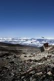 Campo bajo de Kilimanjaro imágenes de archivo libres de regalías