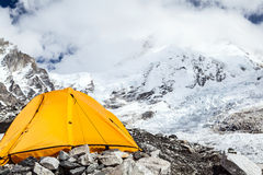 Campo base e tenda di Everest fotografie stock