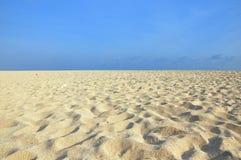Campo blanco de la arena Fotos de archivo libres de regalías