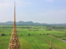 Campo bonito da vista superior 'no templo o mais popular do templo do sua do tum de Wat ' fotografia de stock royalty free
