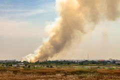 Campo Burning Immagine Stock