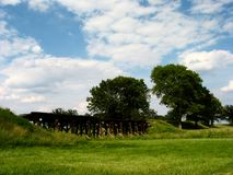 Campo central de Illinois foto de archivo libre de regalías