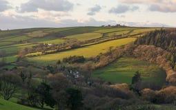 Campo cerca de Barnstaple, Devon del norte, Inglaterra imágenes de archivo libres de regalías