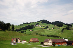 Campo clásico de Suiza Fotografía de archivo