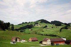 Campo clássico de Switzerland Fotografia de Stock