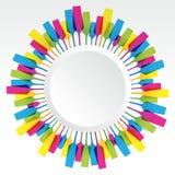 Campo colorido criativo da mistura de vidro ilustração stock