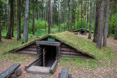 Campo complesso storico di Partizanen nel ‹del †del ‹del village†di Stankovo, Bielorussia Fotografia Stock Libera da Diritti