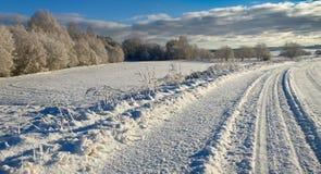 Campo con nieve Imagen de archivo