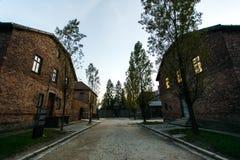 Campo conmemorativo de la exterminación de Auschwitz del museo del holocausto cerca de Kraków, Polonia fotografía de archivo libre de regalías