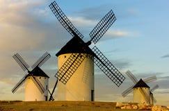 campo criptana de windmills Στοκ φωτογραφίες με δικαίωμα ελεύθερης χρήσης