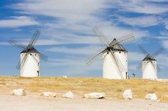 campo criptana de windmills Στοκ εικόνες με δικαίωμα ελεύθερης χρήσης