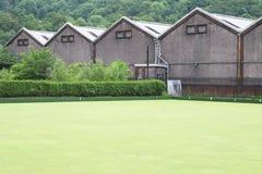 Campo da bocce e tettoie della distilleria a Dumbarton immagine stock libera da diritti