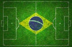 Campo da calcio Fotografie Stock