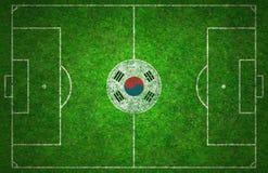 Campo da calcio Immagine Stock
