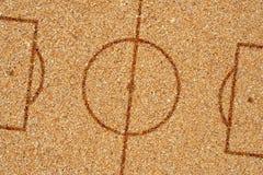Campo da calcio della sabbia Fotografie Stock Libere da Diritti