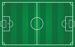 Campo da calcio per il piano del gruppo Fotografia Stock Libera da Diritti