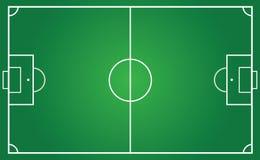 Campo da calcio per il piano del gruppo Fotografie Stock