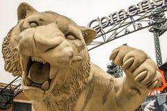 Campo da casa do parque de Comerica dos Detroit Tigers fotografia de stock