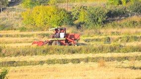 Campo da colheita mecanizada - vídeo conservado em estoque filme